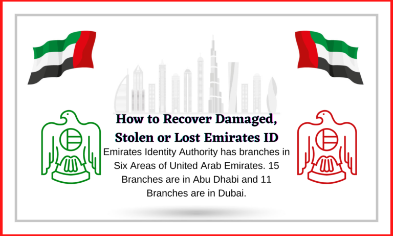 How to Recover Damaged, Stolen or Lost Emirates ID